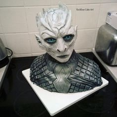 The Night King Game of Thrones Cake by RecklessCakeArt