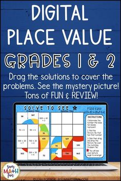 Place value review and fun with this digital Solve To See created in Google Slides™! It is self-checking! This is a perfect resource for engaging your kids in digital math activities. It can easily be assigned using Google Classroom™ and is deal for center work and workstations, too. Works great on laptops, iPads, Chromebooks, and also Android devices using the free Google Slides™ app. Fun Math Activities, Math Resources, Math Games, Google Classroom, Math Classroom, Kindergarten Math, Framed Words, Math Graphic Organizers, Math Word Problems