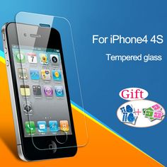 Protective glass on the iPhone 4 4S 5 5S 5C SE 6 6S 7 7 plus Tempered Glass phone Screen Protector film Free shipping