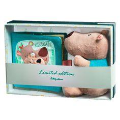 Игрушка Lilliputiens медведь Цезарь с книгой в подарочной упаковке - Мягкие игрушки / Магазин детских товаров ZABAVKA