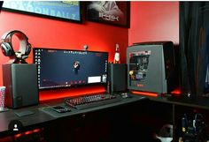 awesome red/black design setup!