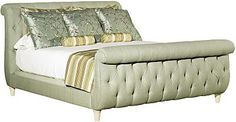 Somerset Upholstered Sleigh Bed (6/6 King) - Hickory Chair