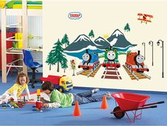 Hey, I found this really awesome Etsy listing at https://www.etsy.com/listing/245396243/wall-sticker-decal-tomas-train-kids