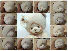 как формирует мордочку мишки Виктория Макарова