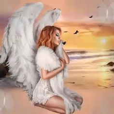Beautiful Angels Pictures, Angel Pictures, Beautiful Fairies, Beautiful Gif, Chica Gato Neko Anime, Motion Images, Cool Optical Illusions, Night Sky Wallpaper, Angel Drawing