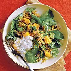 Curried Quinoa Salad with Cucumber-Mint Raita | MyRecipes.com