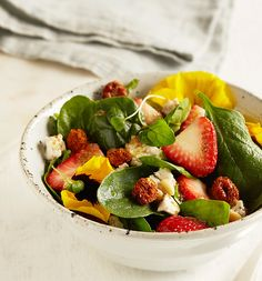Punched up with tangy flavor, this refreshing lunch salad is a treat for the eyes and the tastebuds.