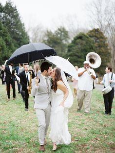 celebrate with a parade! // photographer: Erich McVey // event design: Amanda Gros #wedding