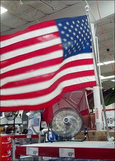 Patriotic Fan Flag Cross Sell