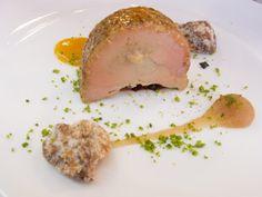Terrina de foie gras e fava tonca com pão de nozes