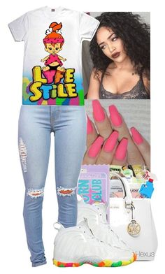 """""""Lyfe Stile"""" by jasmine1164 ❤ liked on Polyvore featuring Forever 21 and NIKE"""