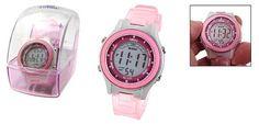 Como Girls Children Digital LCD Wrist Sports Alarm Watch Stopwatch Pink - http://www.watchesandstuff.com/como-girls-children-digital-lcd-wrist-sports-alarm-watch-stopwatch-pink/