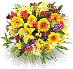 """Blumenstrauß """"Buntes Glück"""" vom Blumenversand bunte-wunder.de: ab 25,00 €, Lieferung per DHL für nur 6,50 € für Fracht und Verpackung"""