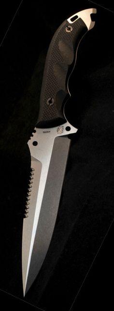 DPx HEFT 6 Razorback Tactical Fixed Knife Blade Assault Stonewashed