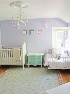 Maryland house girls room painted benjamin moore 39 s dreamy for Benjamin moore french white