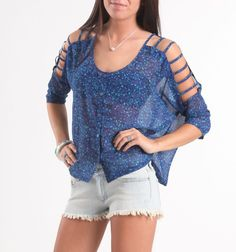 Cool Blue Blouse by Pacsun