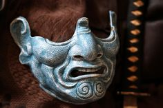 Samurai Menpo Mask (frostbite finish) by Faust-and-Company on DeviantArt