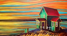 Beautiful Newfoundland artwork captured by artist Adam Young Canadian Painters, Canadian Artists, Pop Art, Young Art, Painting Lessons, Illustrations, Newfoundland, Art Plastique, Fractal Art