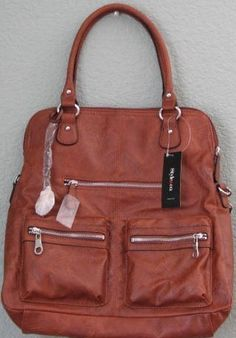 Style Co. Handbag Metro Convertible Satchel New with Tags Brown 1af32eeb50