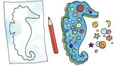 Cute craft for a great book Secret Sea Horse