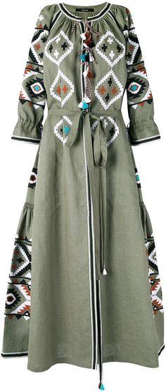 Vita Kin - Fatima's Eye embroidered dress - women - Lin - Taille Unique