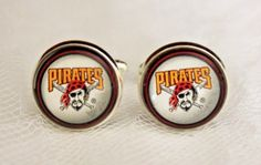 Pittsburgh Pirates Cuff Links made from Baseball Trading Cards #PittsburghPirates