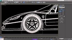 3DSMax - Spline Modelling A Ferrari