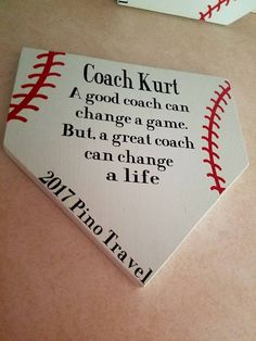 A great coach wooden plaque baseball/softball - Baseball Photos Baseball Snacks, Baseball Game Outfits, Baseball Banner, Baseball Signs, Baseball Quotes, Sports Baseball, Sports Mom, Baseball Mom, Baseball Videos