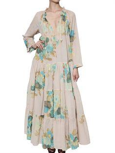 YVONNE S - DRAWSTRING ORGANIC COTTON LONG DRESS