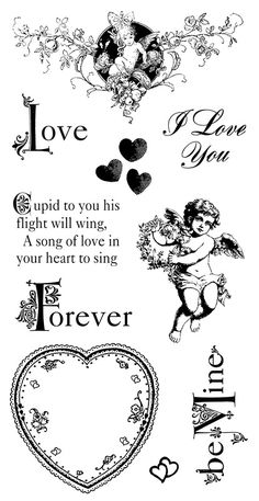 Rubber stamps are a fun way to embellish scrapbook pages. Stamps by Graphic 45 & Hampton Art Graphic 45, Vintage Illustration, Hampton Art, Card Sentiments, Graphics Fairy, Digi Stamps, Be My Valentine, Vintage Prints, Cardmaking