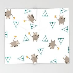 """Paisley Prints is rolling out throw blankets! Starting @ $49 for 51"""" x 60"""" of pure fluffy soft goodness. These are perfect for your little sassy pants girl or rock star young man.https://society6.com/paisleyprints/throw-blankets #blanket #raccoonblanket #raccoon#throwblanket #hipsterblanket #babyblanket #woodlandblanket #woodland"""