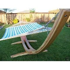 Wooden Arc Hammock Stand,new + Quilted Double Hammock, Double Padded