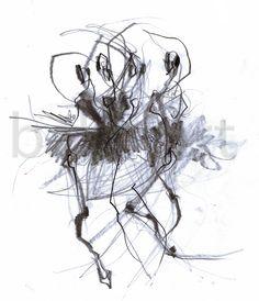 Efectos secundarios del ballet  dibujo del arte de la por BalletArt, $24.00