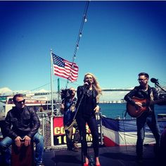 Such an awesome time playing on the #ussiowa!! Thanks to @ gocountry105 for having me and thanks to everyone who came out!!!