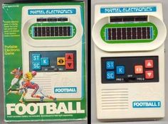 Mattel Electronics Football--The football players were red dashes on the screen. I had the Football, Baseball and Basketball games. Vintage Video Games, Retro Video Games, Vintage Games, Vintage Toys, Childhood Toys, Childhood Memories, Handheld Video Games, Rules For Kids, Cool Electronics