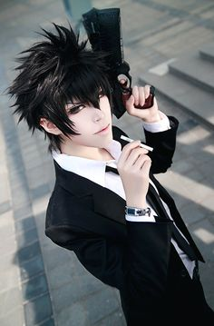 Kogami cosplay (Psycho Pass) http://www.trustedeal.com/Psycho-Pass-Kogami-Shinya-Cosplay-Wig_p169980.html