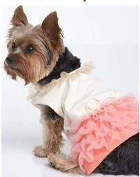 Juicy Couture dog ruffle party dress #juicy #doggycouture
