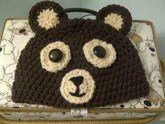 Custom Made Crochet Baby Hat Smiley The Bear