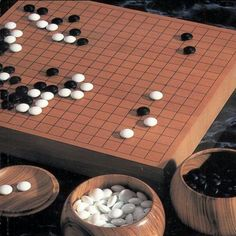 The game of Go is simple to learn and extremely difficult to master, this is the true test of skill - even more so than Chess. And Kell is rated as an Amateur 7 Dan with the AGA. Go Board, Board Games For Two, Heian Era, Future Games, Go Game, Play N Go, Woodworking Box, Cnc Projects, Old Games