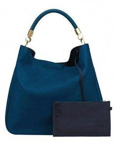 21dde1c47151 sac  roady hobo  bleu canard d yves saint laurent  Designerhandbags Yves  Saint