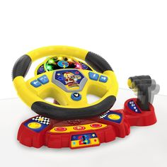 Mickey and the Roadster Racers Super Charged Steering Wheel Toddler Toys, Kids Toys, Mickey Mouse Toys, Minnie Mouse, 3 Wheel Scooter, Mickey Mouse Wallpaper, The Wiggles, 3rd Wheel, Disney Junior