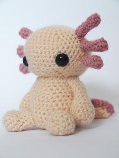 Crocheting: Axolotl