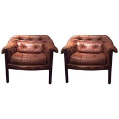 Pair of Vintage Club Chairs by Arne Norell for Coja, 1960s, Sweden