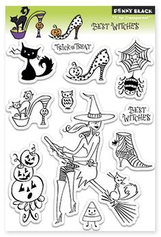 Best Witches (Halloween) - Clear Stamp