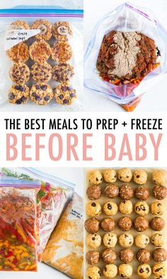 Nov 2019 - Get ready for your baby's arrival! Here are some healthy meals & snacks that you can prep and freeze in advance to make those first few weeks a bit easier! Freezer Friendly Meals, Slow Cooker Freezer Meals, Freezer Cooking, Chicken Freezer Meals, Crock Pot Freezer, Baby Food Recipes, Snack Recipes, Cooking Recipes, Detox Recipes