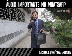 Quando mandam aquele áudio importante no WhatsApp...Vem ver o vídeo exclusivo para o Facebook!