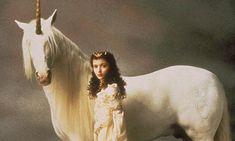 Mia Sara and unicorn in Legend #Fantasy #Legend