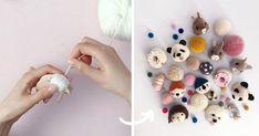 Brmbolcom dáva úplne nový rozmer! Takto z nich vyrába rozkošné zvieratká, ktoré si zamilujete na prvý pohľad. Brmbolcové zvieratká, návod, nápad, panda, zajac, pes, pom maker, pompom, dekorácie, hračky pre deti z vlny, handmade