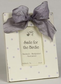 Simple Dots Lavender Picture Frame