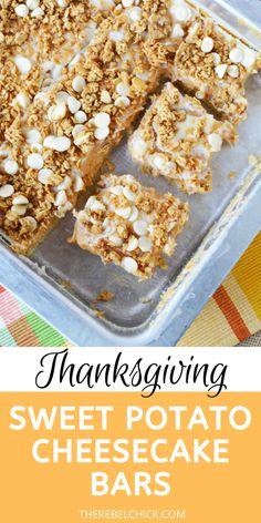 Sweet Potato Cheesecake Bars Recipe for thanksgiving